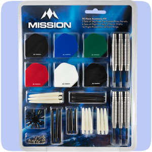Mission Steel Tip Darts Accessory Kit (90 Piece + 2x24g Darts)