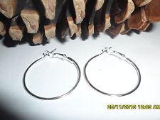 silver earrings hoop 30mm or 35mm,fashion ,sleepers silver plate 925 silver