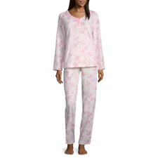 fb17a0846c Adonna Microfleece Pink Laurel Floral Pant Pajama Set - Women s Size 2XLarge