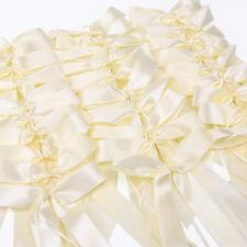 50/30 x Noeud papillon ruban satin pour voiture salle blanc / beige crème