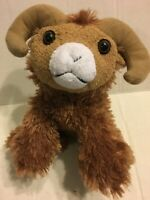 "Stuffed Animal House Brown Goat  9"" Plush Stuffed Animal"