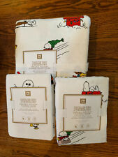 NWT Pottery Barn Teen PEANUTS HOLIDAY F/Q Duvet~ 2 Standard Shams