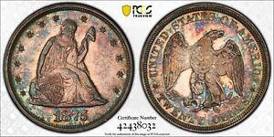 1875 Liberty Seated Twenty Cent Piece 20C PCGS AU55 ☆ FREE SHIPPING