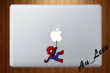 Macbook Air Pro Vinyl Sticker Decal Spider man cartoon super hero marvel cm258