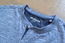 LEE Premium Mens Blue Marl Henley T-Shirt L not 101