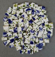 Blue Roses And Ivy Chintz Mosaic Tiles