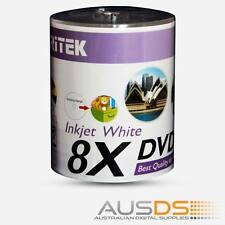 100 X Ritek DVD blank disc media - Printable DVD-R discs matt - 8X burn