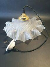 💡 ancienne opaline lampe suspension drapée art deco