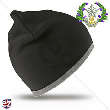 Cameronians Scottish Rifles - Beanie Hat with Embroidered Badge
