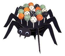 NEW MERI MERI BLACK SPIDER W/ GOGGLE EYES CAKE POP STAND & 24 STICKS HALLOWEEN