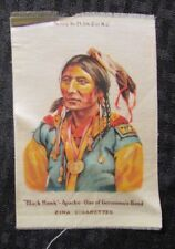 "1910 Black Hawk 3.25x4.75 "" Zira Cigarettes Silk Vg+ 4.5"
