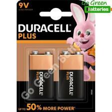 2 x Duracell 9V PP3 Plus Power Batteries, Smoke Alarms (LR22, MN1604, 6LR61)