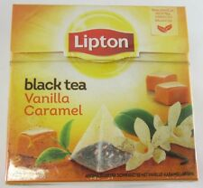 Lipton Black Tea: VANILLA CARAMEL tea -1 box/ 20 tea bags