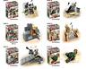 Baukästen 6PCS Desert Eagle Militär Soldat Kinder Waffen Spielzeug Mini Geschenk