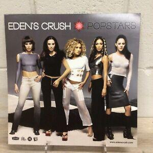 "EDENS CRUSH POPSTARS 2001 PROMO FLAT DOUBLE SIDED POSTER 12""x12"""