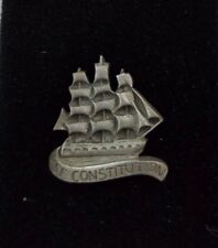 USF Constitution Pewter Tie Bar Clip Pin Clasp with Chain Tie Tack USA Souvenir