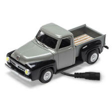 Menards ~ 1:48 Scale BLACK & GRAY 2-TONE 1953 FORD Pickup Truck Lighted Diecast