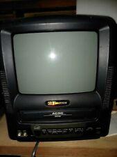 "Emerson 9"" CRT Portable Television TV VCR Combo Retro Gaming EWC0902 Dc Car Cord"
