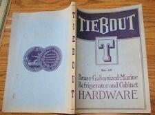 1939 189 page Tiebout  Marine Hardware Catalog Sailboat Boat Yacht Nautical