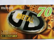 MAXELL METAL UD 70 FACTORY SEALED AUDIO CASSETTE JAPAN