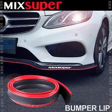 MIXSUPER Rubber Bumper Lip Splitter Chin Spoiler Trim EZ Protector RED for Buick