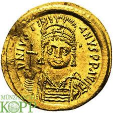 AB2300) BYZANZ Iustinianus I., 527-565. AV-Solidus, Constantinopolis 10. Offizin