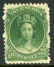 Canada 1860 Nova Scotia 8½¢ Queen Victoria Yellow Paper Mint VF F220