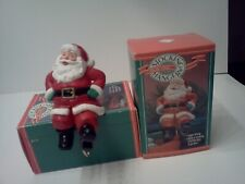 Vintage Hallmark Stocking Hanger Santa Claus 1988 Christmas EUC IN BOX