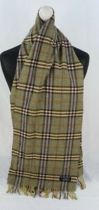 BURBERRY SCARF 100% LAMBSWOOL FOR MEN AND WOMEN MADE IN ENGLAND GREEN FR