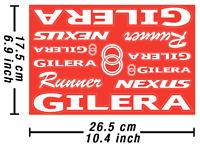 Gilera Decals Stickers Motorcycle Vinyl Autocollant Aufkleber Adesivi /617