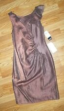Adrianna Papell Iridescent Cocktail Evening Party Dress Womens Size 10 RT