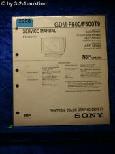 Sony gdm ebay sony service manual gdm f500 f500t9 trinitron graphic display 2958 sciox Image collections