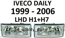 IVECO DAILY H1 H7 FRONT 2 HEADLAMPS HEADLAMP HEADL LIGHT LIGHTS LAMP 00-06 LHD