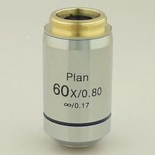 60X INFINITY PLAN ACHROMATIC MICROSCOPE OBJECTIVE INFINITE SPRING LENS BRAND NEW