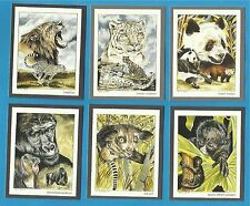Cigarette/trade Cards - ENDANGERED WILD ANIMALS - Full mint condition set