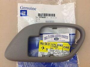 Chevrolet C/K GMC C/K RH Passenger Front Gray Inside Door Handle Lock Bezel OEM