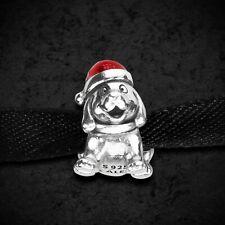 Genuine Pandora Silver Christmas Puppy Charm 791769EN39 Mint Condition