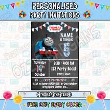 THOMAS THE TANK Personalised Birthday Party Invitations / Invites Party Supp