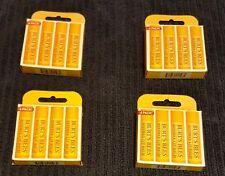 4 Packs Burt's Bees Beeswax Lip Balm Vitamin E & Peppermint 0.15 oz (16 Total)