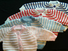 Handmade Cardigan Striped Jumpers & Cardigans (0-24 Months) for Girls