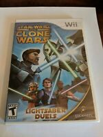 Star Wars: The Clone Wars - Lightsaber Duels (Nintendo Wii, 2008) New Sealed !