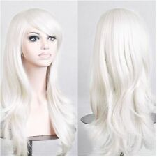 Long Wave Hair Two Tone Black and Grey Ombre Wig Heat Resistant Full Head Wigs