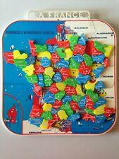 PUZZLE VINTAGE MOB - CARTE FRANCE - DEPARTEMENTS