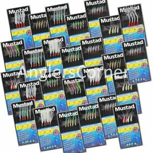 Mustad Sabiki Rigs / Hokki / Sea Fishing Mackerel Feathers, Pollack, Cod, Bass