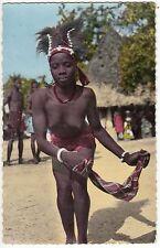 CARTE POSTALE AFRIQUE PIN UP FEMME NU NUE LA DANSEUSE AU MOUCHOIR