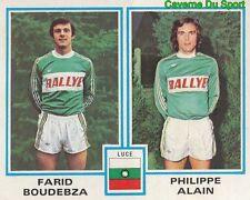 406 FARID BOUDEBZA - PHILIPPE ALAIN AMICALE DE LUCE STICKER FOOTBALL 1980 PANINI