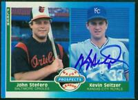 Original Autograph of Kevin Seitzer of the Kansas City Royals on a 1987 Fleer