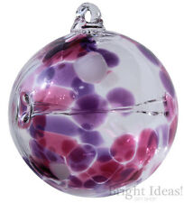 D & J VETRERIA-Wish Maker amicizia GLASS BALL Globe-ROSA LILLA desiderio Bone
