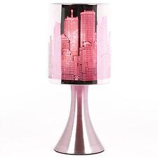 Lampe New York  rose  lampe de chevet touch NY   Tactile Déco Intensité Variable