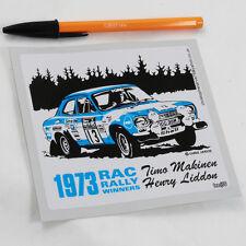 Mk1 FORD ESCORT Timo Makinen RAC Rally Adesivo RS1600 funziona Boreham 1973 BDA